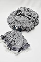 Doplnky - Pánsky šál s koženým remienkom - 11374425_