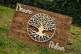 Dekorácie - Drevené logo - 11375416_