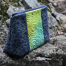 Taštičky - Taštička zelená s modrou - 11375184_