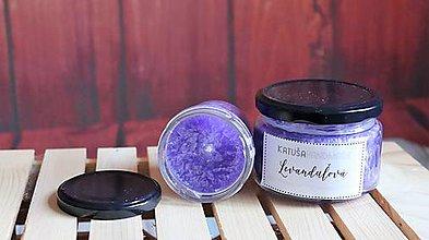 Svietidlá a sviečky - handmade sviečka (levanduľová) - 11376048_
