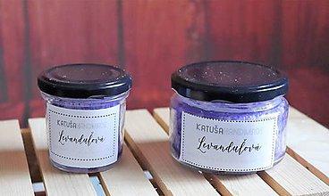 Svietidlá a sviečky - handmade sviečka (levanduľová) - 11376049_