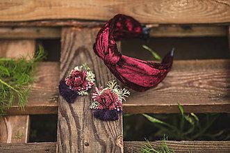 Náušnice - Kvetinové naušnice - 11377440_