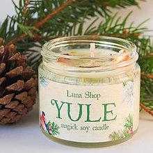 Svietidlá a sviečky - ❄ Yule - přírodní sójová svíčka s vůní vánoc - 11375503_