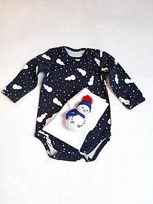 Detské súpravy - Darčeková sada pre bábätko ( polodupačky, body,hračka). - 11375295_