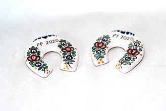 Magnetky - Výrobky s príbehom - podkovička magnet - 11375326_