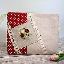Taštičky - VELKÁ TAŠTIČKA -Růžová láska - 11374479_