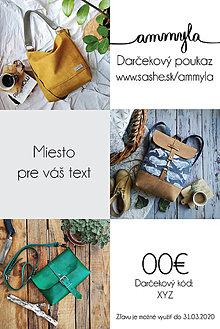 Darčekové poukážky - Darčeková poukážka 20/50/80/100/130€ - 11377195_