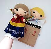Hračky - Folklórny párik - chlapec a dievka - sada maňušiek na ruku - 11374438_