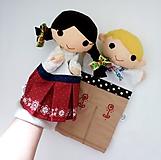 Hračky - Folklórny párik - chlapec a dievka - sada maňušiek na ruku - 11374439_