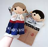 Hračky - Folklórny párik - chlapec a dievka - sada maňušiek na ruku - 11374441_