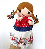 Hračky - Folklórny párik - chlapec a dievka - sada maňušiek na ruku - 11374453_