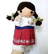 Hračky - Maňuška folk dievčinka - Marika - 11376097_