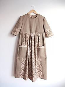 Šaty - Ľanové šaty s nádychom romantiky - 11375674_