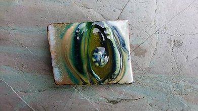 Odznaky/Brošne - abstraktná zelená - 11377610_