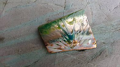 Odznaky/Brošne - zelený gejzír - 11377621_