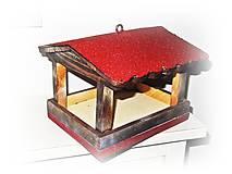 Pre zvieratká - Vtáčia búdka, kŕmidlo z dreva - 11374326_