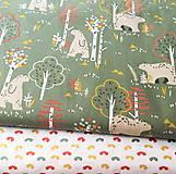 Textil - severský les, 100 % bavlna Francúzsko, šírka 150 cm - 11376326_