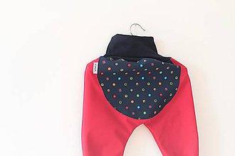 """Detské oblečenie - Softshellky """"veselé bodky"""" - 11375427_"""