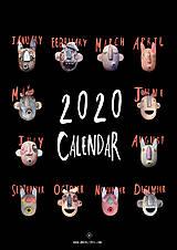Dekorácie - Kalendár Frikou 2020 - 11375748_