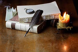 Drobnosti - pierko na písanie - brko na písanie - 11376161_
