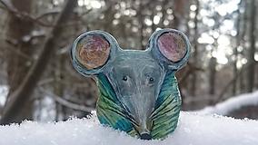 Odznaky/Brošne - Brošňa myška - 11375387_