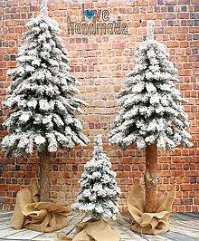 Dekorácie - Zasnežený stromček 150cm - 11376211_