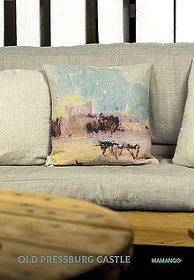 Úžitkový textil - Dekoračný vankúš - detail maľby STARÁ BRATISLAVA - 11376673_