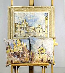 Úžitkový textil - Set obliečok na vankúše - maľba MOSKVA - 11376685_