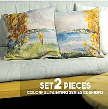 Úžitkový textil - Set obliečok na vankúše - maľba SENECKÉ JAZERO - 11376693_