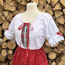 Košele - Folklórna (ľudová) blúzka Lojzka - 11377360_