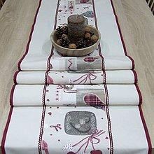 Úžitkový textil - BIBIANA - Mix vianočných motívov - stredový behúň - 11374421_