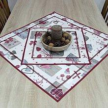Úžitkový textil - BIBIANA - Mix vianočných motívov - vianočný obrus štvorec - 11374686_