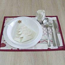 Úžitkový textil - BIBIANA - Mix vianočných motívov - vianočné prestieranie 28x40 - 11374932_