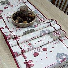 Úžitkový textil - BIBIANA - Mix vianočných motívov - stredový obrus - 11375067_