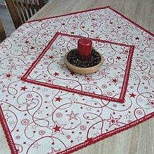 Úžitkový textil - Hviezdy na režnej - set vianočných obrusov - 11377142_