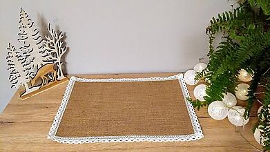 Úžitkový textil - Jutové prestieranie 30x45 cm - 11376863_