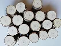 Materiál ručne robený - Drevené plátky okrúhle - priemer 4 - 5cm - 11374882_