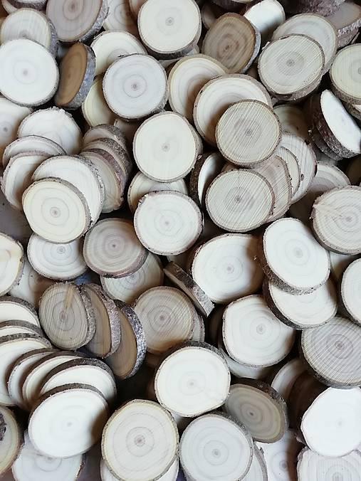 Drevené plátky okrúhle - priemer 4 - 5cm