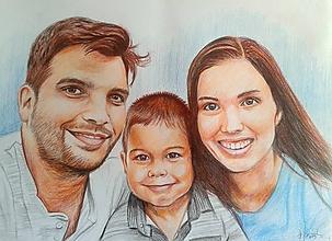 Kresby - mladá rodinka...☺ - 11376214_