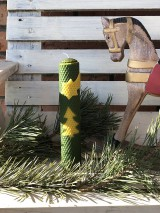 Svietidlá a sviečky - Vysoká zelena so stromčekom a kométou - 11375206_