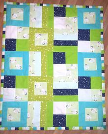 Textil - Detská patchworková prikrývka - 11378018_