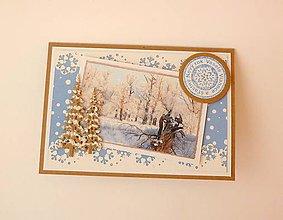 Papiernictvo - Vianočná pohľadnica - Zima - 11377954_