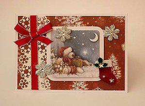 Papiernictvo - Vianočný macko - 11378002_