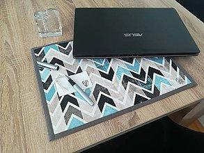 Úžitkový textil - Podložka pod notebook (Modrá) - 11378000_