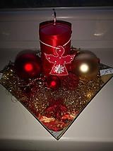 Dekorácie - Vianočný tanierik so sviečkou - 11377585_