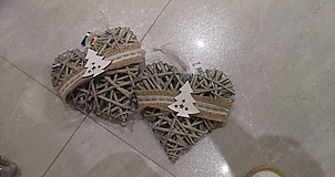 Dekorácie - Prútené srdcia - 11377719_