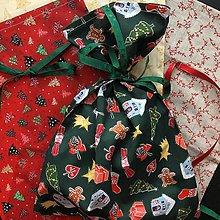 Taštičky - Vianočné vrecúška - 11376111_