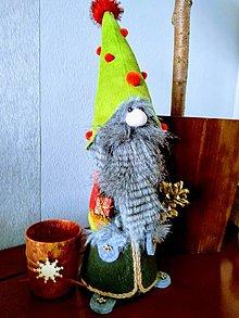 Dekorácie - Vianočný škriatok - 11377835_