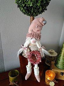 Dekorácie - Vianočný škriatok - 11377865_