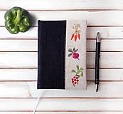 Papiernictvo - Vyšívaný zápisník Zelenina - A6 - 11374408_